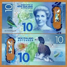 New Zealand, $10, 2015, Polymer, Pick New, Redesigned, UNC