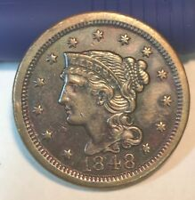 1848,  large cent, XF