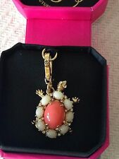 BRAND NEW! JUICY COUTURE GEM TURTLE BRACELET CHARM IN TAGGED BOX