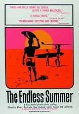 ENDLESS SUMMER LARGE REPO MOVIE POSTER SURFING UV BLACK LIGHT SILK SCREENED