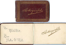 1883 Autograph Album w Several Family Inscriptions, Shenandoah, IA