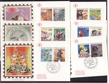 enveloppe 1er jour     les  12 timbres  plaisir d' écrire   1993