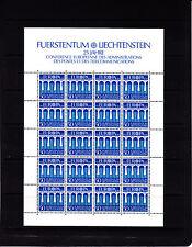 Liechtenstein Europa bleu 50r feuille 20 TP n° 778