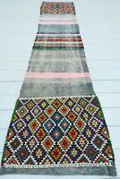 """Anatolia Fethiye Kilim Runner, Carpet Runner, Long Rug, Hallway Kelim 21""""X102"""""""