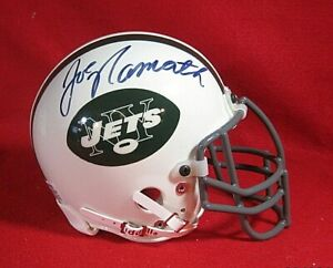Joe Namath Autographed New York Jets Riddell Mini Helmet, Hall of Fame