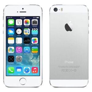 Apple iPhone 5s-16GB-4GB-Silver (Unlocked) Pristine Condition*boxed+ accessories