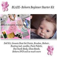 REBORN Starter Beginner Kit, Genesis paints, Mohair, DVD, DOLL KIT- BLAZE