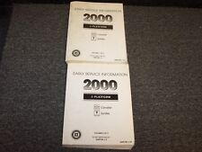 2000 Chevy Cavalier Service Information Repair Manual Book Set LS Z24 2.2L 2.4L