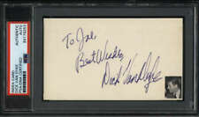 "Dick Van Dyke Actor Signed 3"" x 5"" Index Card  PSA/DNA"