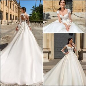 New Arrival Illusion Lace Tulle Full Skirt wedding dress, UK tailor made