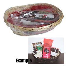 Make Your Own Hamper Kit 30cm x 22cm - Basket; Wrap; Ribbon & Wood Wool - Cream