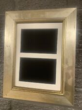 """17""""x11"""" italian silver picture frame with multi mount to fit 2 9""""x7"""" photos"""