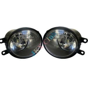 Pair LED Fog For Toyota Camry Corolla Yaris Sienna RAV4 Highlande Lexus Scion tC