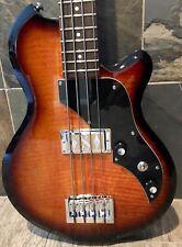 "New 30"" Short-Scale Hot Rod: Supro Huntington I Bass, Tobacco Sunburst Flametop"