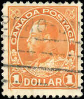Canada Used F+ Scott #122 1925 $1.00 King George V Admiral Stamp