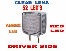 52 LED Double Face Turn Signal (Driver) Amber/Red LED w/clear lens  SEMI-TRUCK