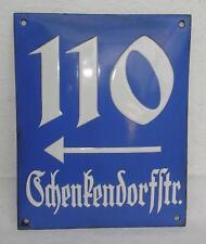 Email Scudo/zucchero Glassa in ghisa per 1920-prestare villaggio Straße 110