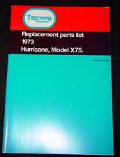 1973 Triumph Trident 750 X75 Hurricane, OEM, Parts Manual. Brown Wrap, F/SH