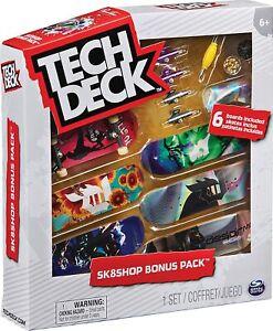 Tech Deck SK8Shop Bonus Pack 6 Pack Toy Skate Boards & Accessories