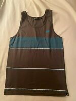 Vans New Men's Tank Top NWOT size Medium Brown with turquoise / white stripes