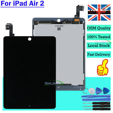 For Apple iPad Air 2 LCD Touch Screen Black Digitizer Dispaly Assembly + Tool UK