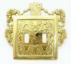 Virginia Metalcrafters Vintage Brass 24-18 Ornamental Double Switch Plate (a)