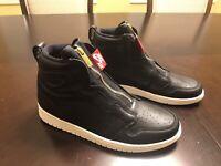 New Nike Air Jordan 1 Retro High Zip Black Sneaker Shoes Size US 11.5
