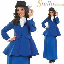 Extra Large Blue Victorian Lady Mary Poppins Costume - XL Ladies Fancy Dress