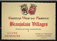 Etiquette Grand Vin De France - Beaujolais Villages - Réf.n°88