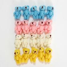 20 Pcs 4 color Little / Mini Teddy Bear Stuffed Dolls Very Cute 3.5cm Wholesale