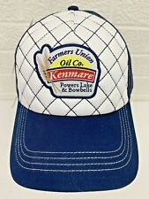 Farmers Union Oil Co Kenmare Snapback Patch Hat Cap Blue White Mesh Trucker