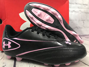 Under Armour Girl's Create ll HG JR Soccer Cleats Size 5.5Y Pink New With Box