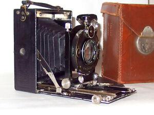 """6,5x9 Plattenkamera Certo Certotrop plate camera RüO Optik """"Hekistar"""" 3,5/10,5"""