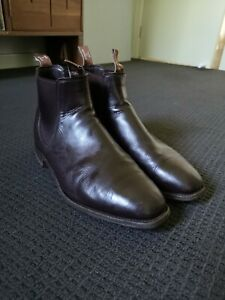 RM Williams Mens Chestnut Craftsman Leather Boots Size 10.5H
