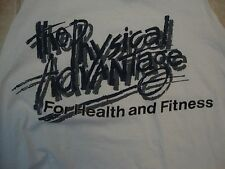 Vintage The Physical Advantage For Health And Fitness White Tank Top Size XL