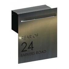 Barkers Rd Stainless Steel Letterbox - Brickin Mailbox or Fence Mount Letter Box