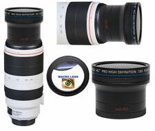 HD4 WIDE FISHEYE LENS + MACRO LENS FOR Canon EF 100-400mm f/4.5-5.6L IS II USM