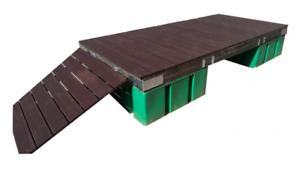 Schwimmsteg 3 x 1,5 m, Holz / Holzbelag, Gewicht 180 Kg, Verdrängung 680 Kg, NEU