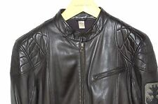 SUPER GORGEOUS !!! DIESEL MEN  LEATHER BIKER JACKET SIZE M .MADE IN ITALY