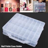 48 Grid Nail Polish Rack Display Cosmetics Plastic Box Stand Storage Display New