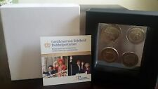 "Netherlands 2 Euro 2013 & 2014  + Gulden 1980 in coin set ""Double Portrait"" NEW"