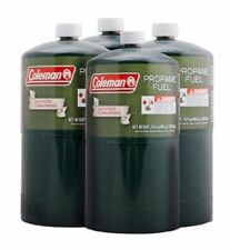 COLEMAN 4 Pk Propane Fuel Bottle Cylinder 16 oz Camping Stove Gas Prop Tank 16.4
