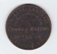 circa 1872 Edward Waters Confectioner Auckland New Zealand NZ Token One Penny