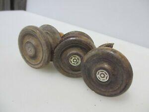 Antique Wooden Dresser Knobs Chest of Drawer Handles Pulls Vintage Old Pearl