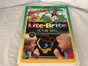 VINTAGE 80s Lite Brite refill Disney Ducktales Complete NEW SEALED Duck Tales
