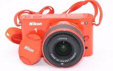 Nikon 1 J2 Cámara Digital de 10.1 Mp - Naranja (Juego con / VR 10-30mm Objetivo)