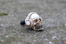 2 License plate,windshield DJ skull custom bolt screw, headphone,skeleton,bike