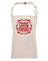 LOVE BAKING WITH MUMMY-  children's / kids apron - EMAIL THE NAME YOU WANT