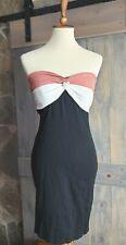 Derek Heart Strapless Bodycon Twist Dress Size Small Black and Salmon
