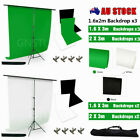 Photo Green Backdrop Stand KIT Studio Black White Background Screens Support Set